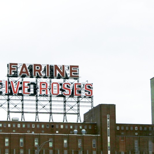 Montreal: The Farine Five Roses sign is a symbol of the tension between the Anglophones and Francophones.