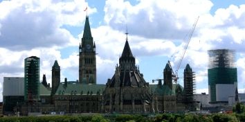 Ottawa: The construction at Parliament Hill is highly visible from