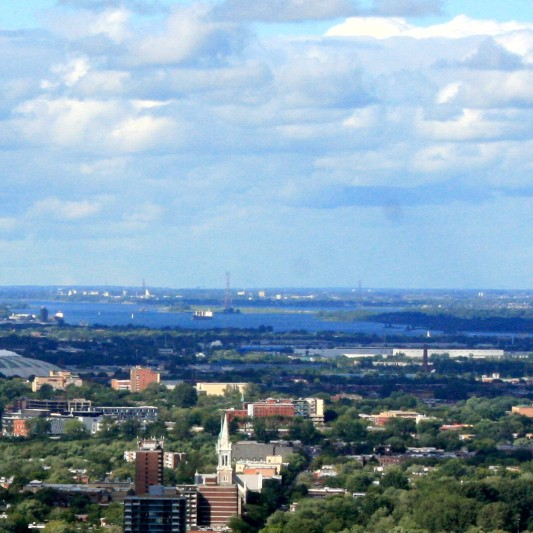 Montreal: The skyline of Montreal includes the site of Expo 67.