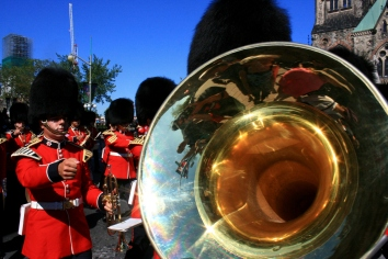Ottawa: The band marched in the streets and drew large crowds