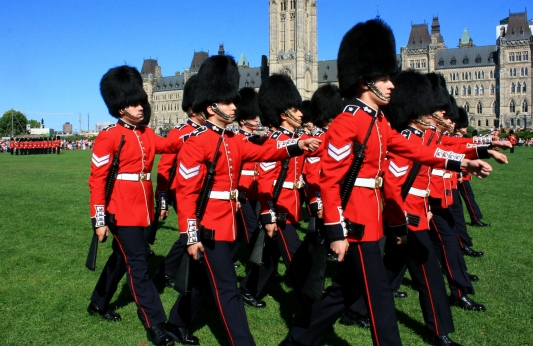 Ottawa: The changing of the guard consists of some marching and a good amount of standing.