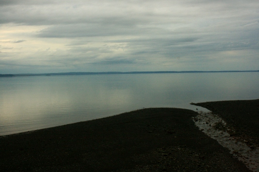 Looking across the Bay of Fundy from Halls Harbour, NS.